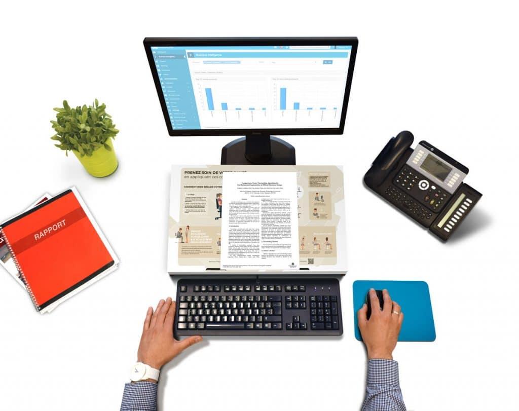 Opti1 ergonomischer, zugänglicher und umweltfreundlicher Dokumentenhalter