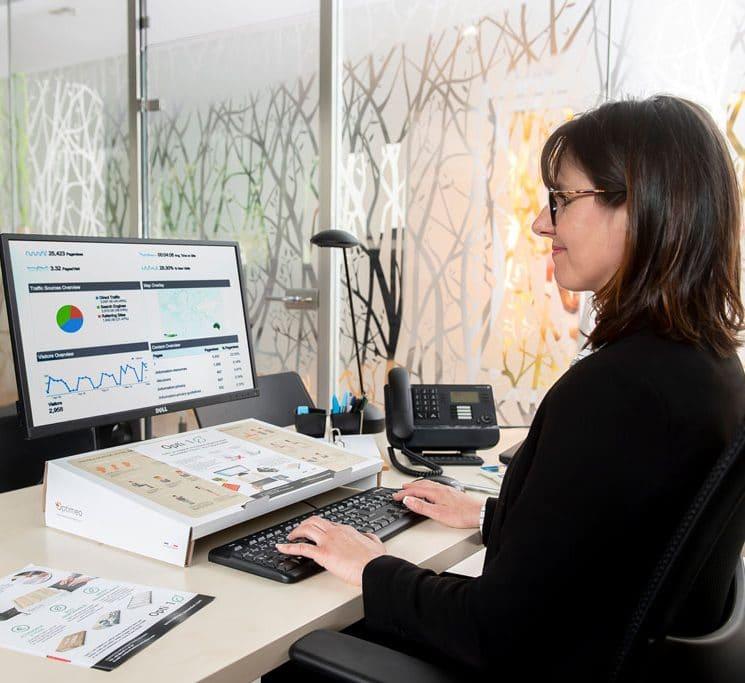 opti-1 position ergonomique saisie clavier